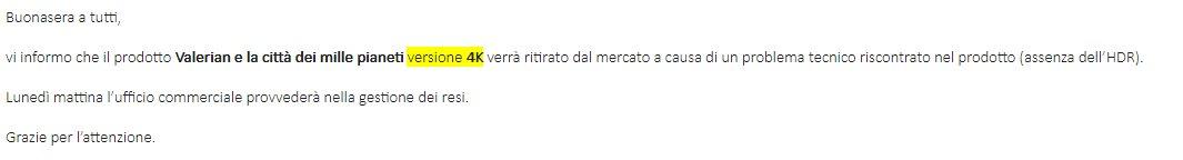 """Valerian e il caso dell'HDR """"scomparso"""""""