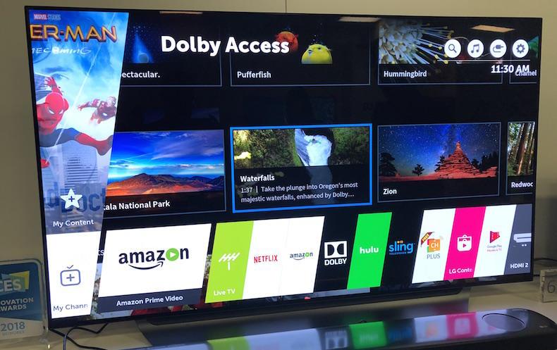 CES 2018 - Un primo sguardo al TV OLED 4K/HDR LG 55C8