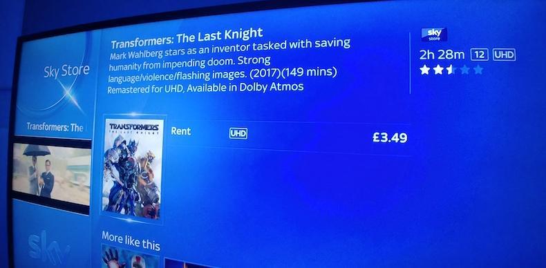 Sky UK offre già i primi film in 4K e Dolby Atmos: quando li vedremo in Italia?