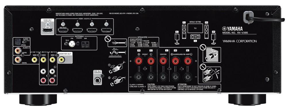 Solo 300 dollari per il nuovo sintoampli AV Yamaha RX-V385