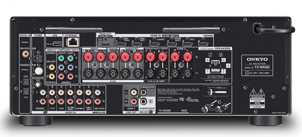 Onkyo TX-NR585: 7.2 canali e audio per ogni esigenza