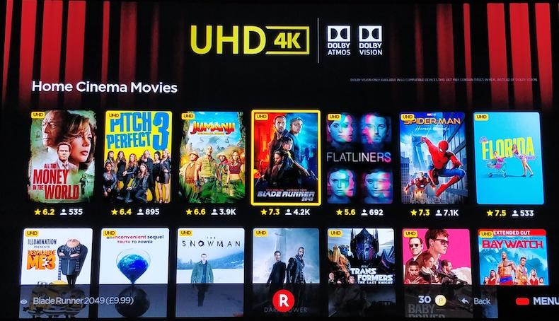 Rakuten TV: film in Dolby Vision e Dolby Atmos sui TV LG
