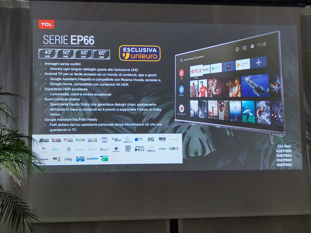 TCL amplia la gamma di TV LCD 4K con le serie EP68, EP66 ed EP64