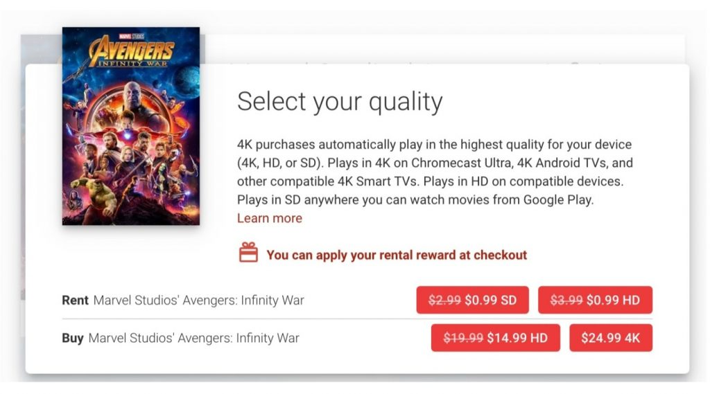 Google Play Movies: negli USA arrivano i film Disney in 4K-HDR