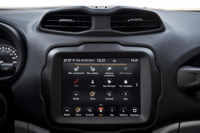 Jeep Renegade 2020 prima FCA con gli Uconnect Services