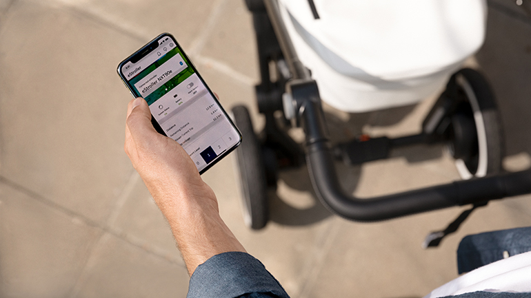e-stroller: il passeggino a trazione elettrica intelligente di Bosch