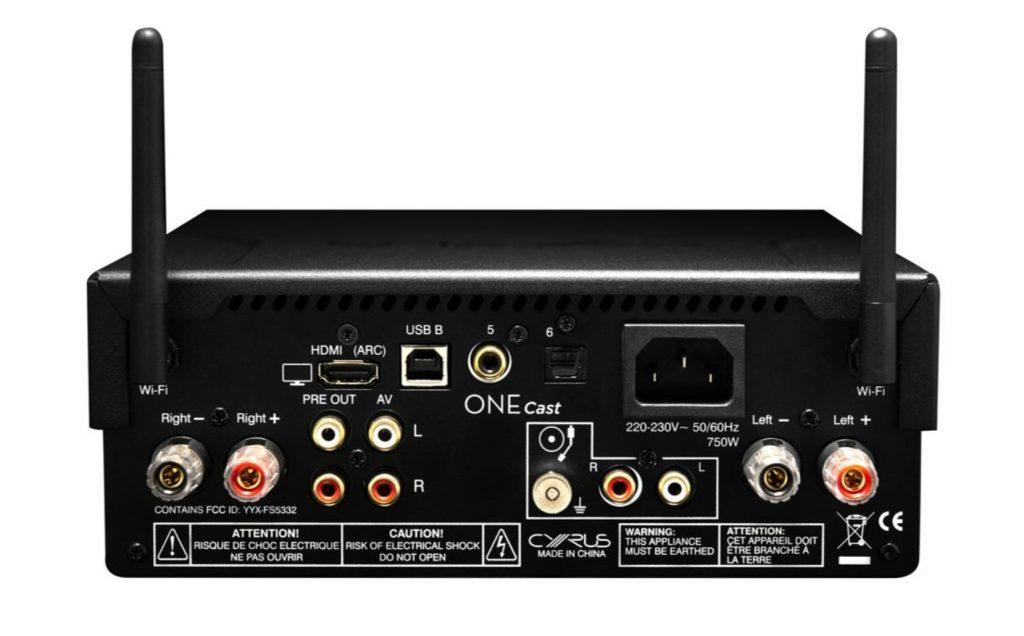 Cyrus One Cast: ampli e streamer all-in-one da 100W per canale