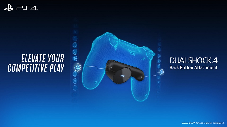 PS4: il Back Button Attachment per il DualShock 4 aggiunge due pulsanti