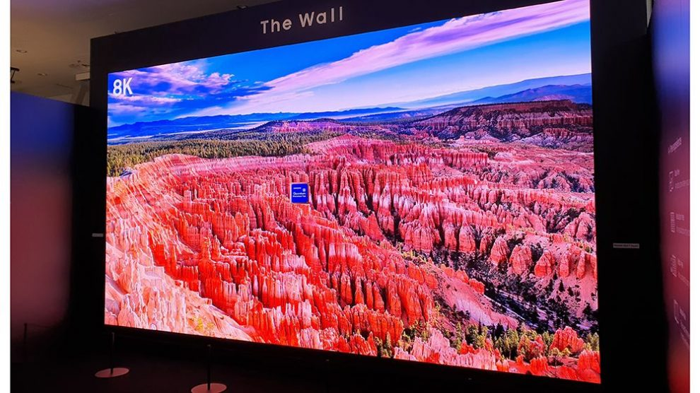 Il Samsung The Wall for Business fa paura: 583 pollici e risoluzione 8K