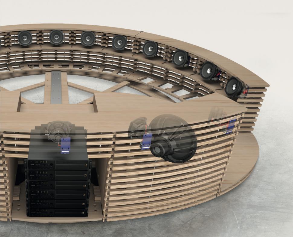 Tutta la magia di un impianto audio BluSpace Standard a 24 canali