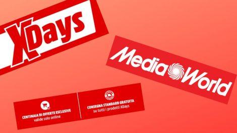 Mediaworld X Days: 9 giorni di sconti con spedizione gratuita